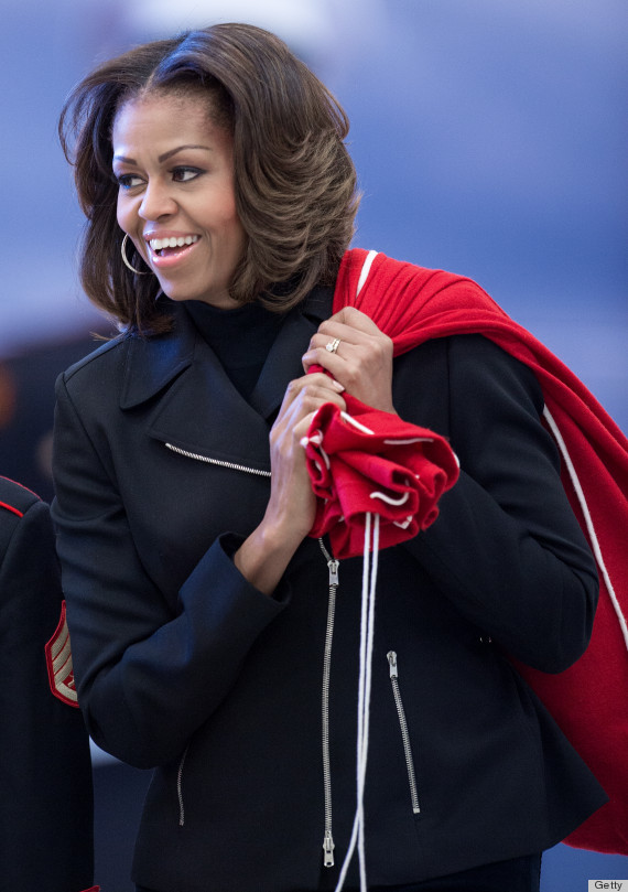 Tremendous Michelle Obama Debuts Quintessential 39First Lady39 Hair Photos Short Hairstyles For Black Women Fulllsitofus