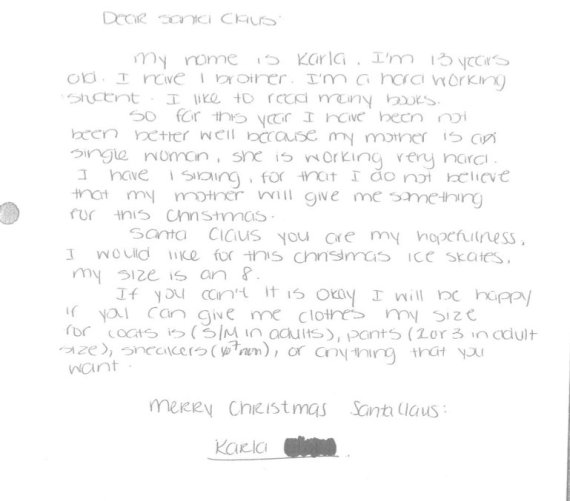 New York Post Office Has 50000 Santa Letters To Fulfill For Needy – Sample Letter Format for Kids
