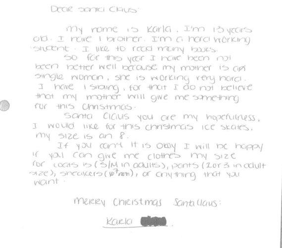 Sample Kids Letter From Santa