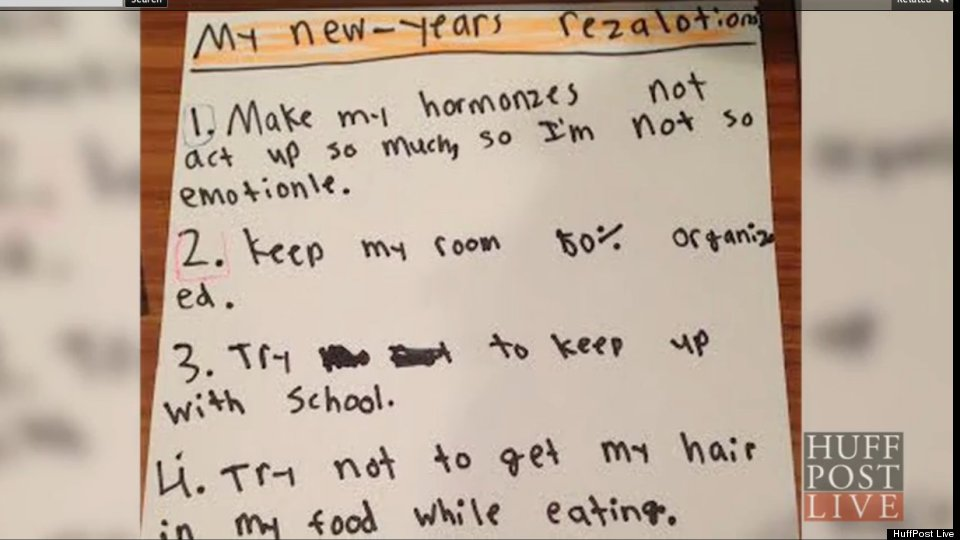 Precocious 10-Year-Old Shares Her Resolutions For 2014 (VIDEO ...