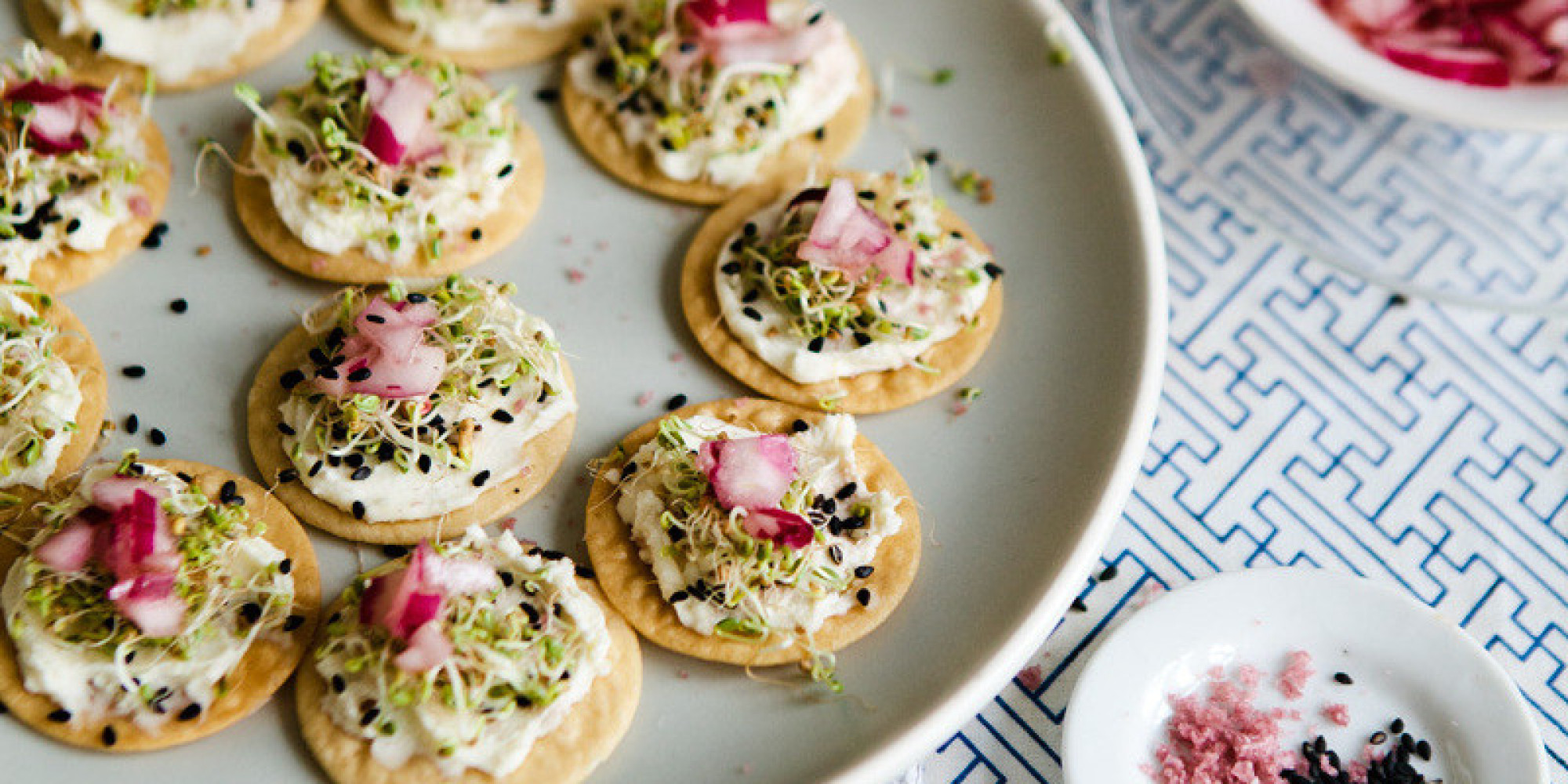27 gorgeous celebratory canap recipes huffpost for Christmas canape ideas