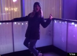 Guess Who's AMAZING At Moonwalking On Ice?