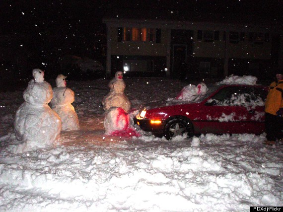 These Disturbingly Creative Snowmen Would Make Calvin And