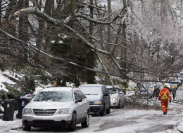 Ice storm blackout