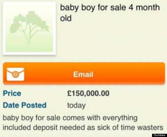 baby advert gumtree