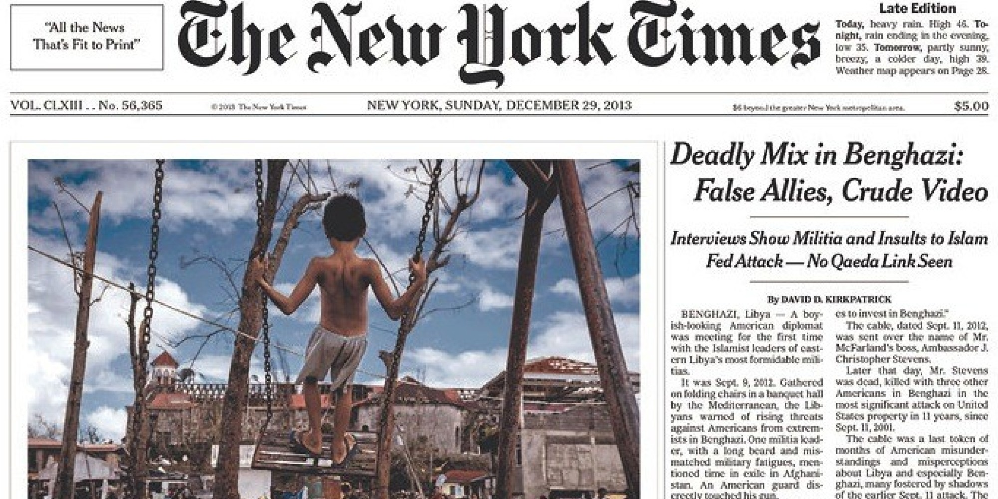 Francois Illas New Tradition: New York Times Benghazi Investigation Confirms Paper's