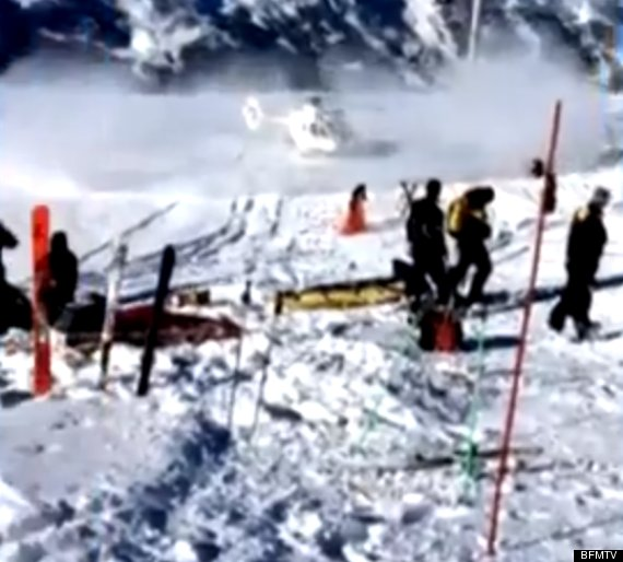 michael schumacher airlifted footage