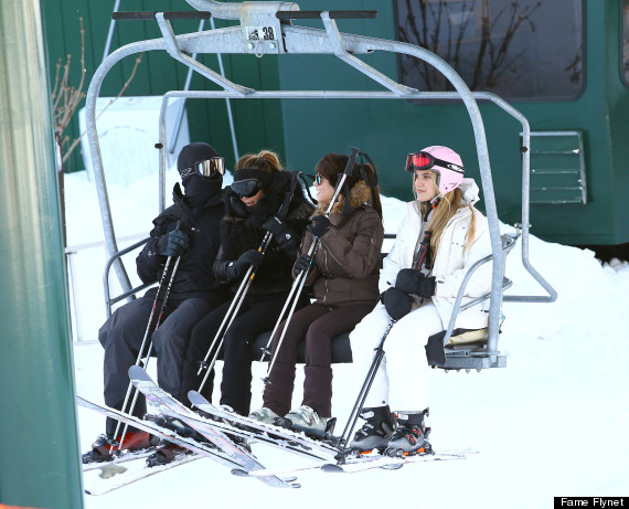 Kim Kardashian And Kanye West Go Skiing Huffpost