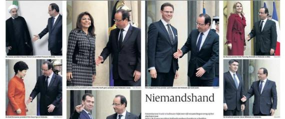 POIGNE DE MAIN HOLLANDE