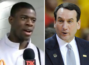Unc Recruit Reggie Bullock Coach K Video