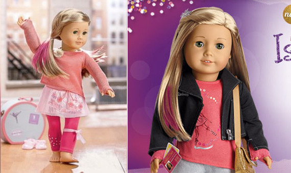 american girl dolls pink hair