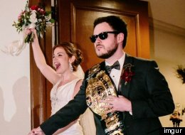 Couple's Wrestling-Themed Wedding Is Worthy Of A Championship Belt