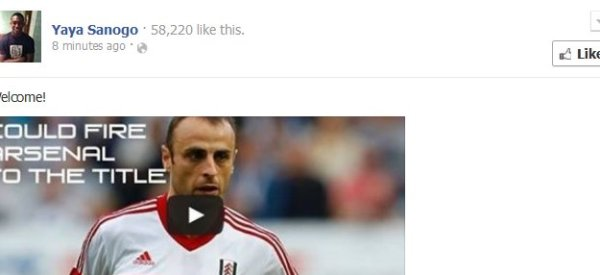Sanogo 'Welcomes' Berbatov To Arsenal... Then Deletes Facebook Post
