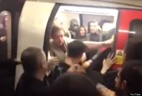 london underground fight new years eve