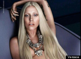 Gaga Goes Topless For Versace