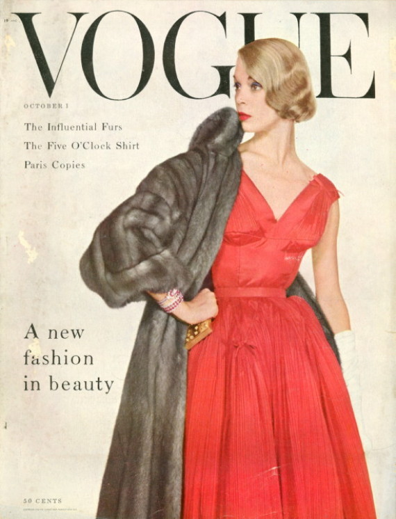 f49ef5a17fde0 Fashion Magazine Covers Were So Much More Glamorous In The 1950s ...