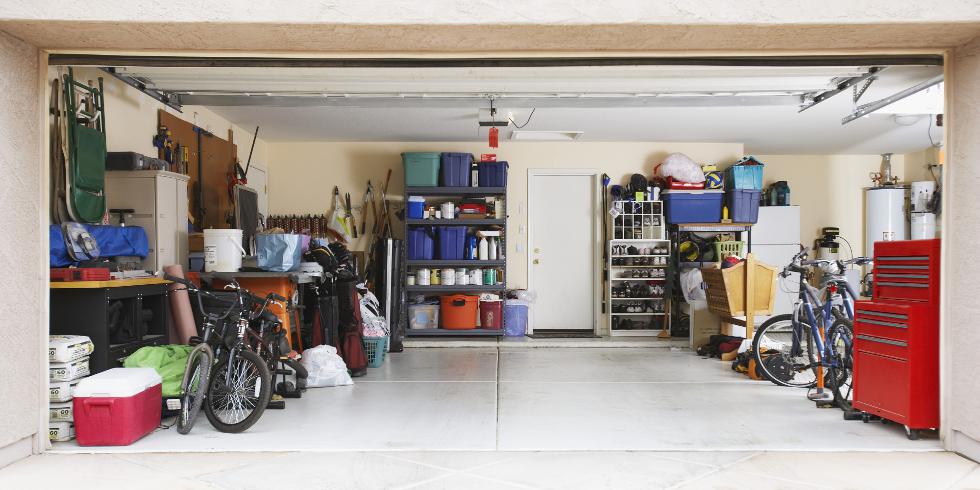how to organize your garage in no time at all so you can actually use it photos huffpost. Black Bedroom Furniture Sets. Home Design Ideas