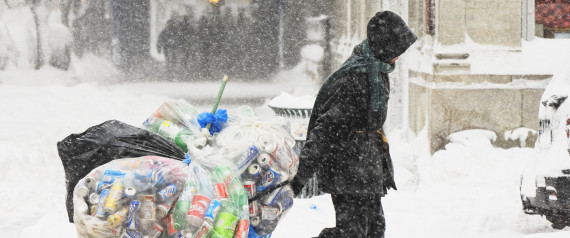 HOMELESS IN SNOW STORM