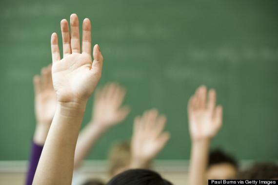 hand raised classroom