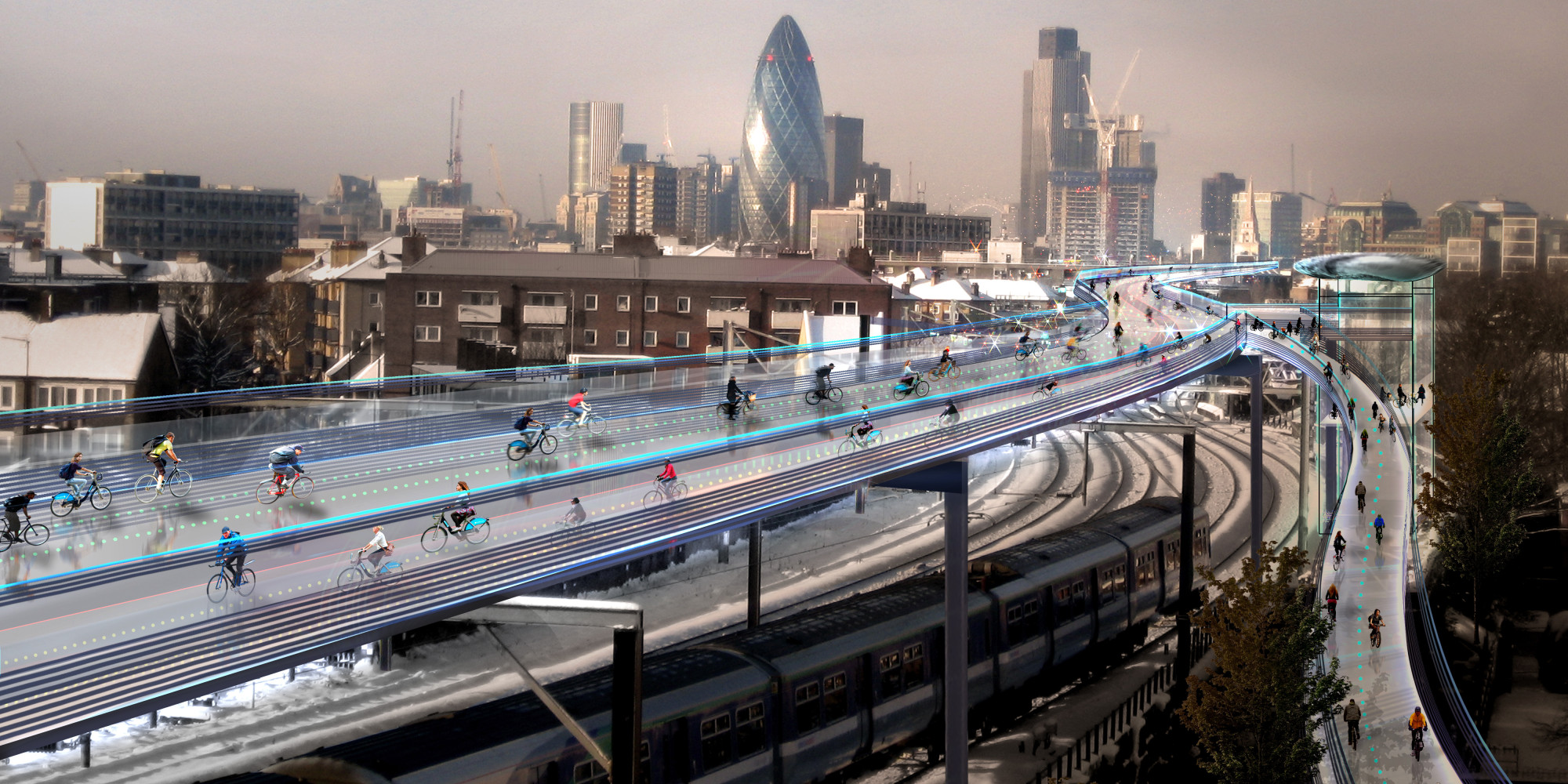 Skycycle London S Bike Highway Proposal Could