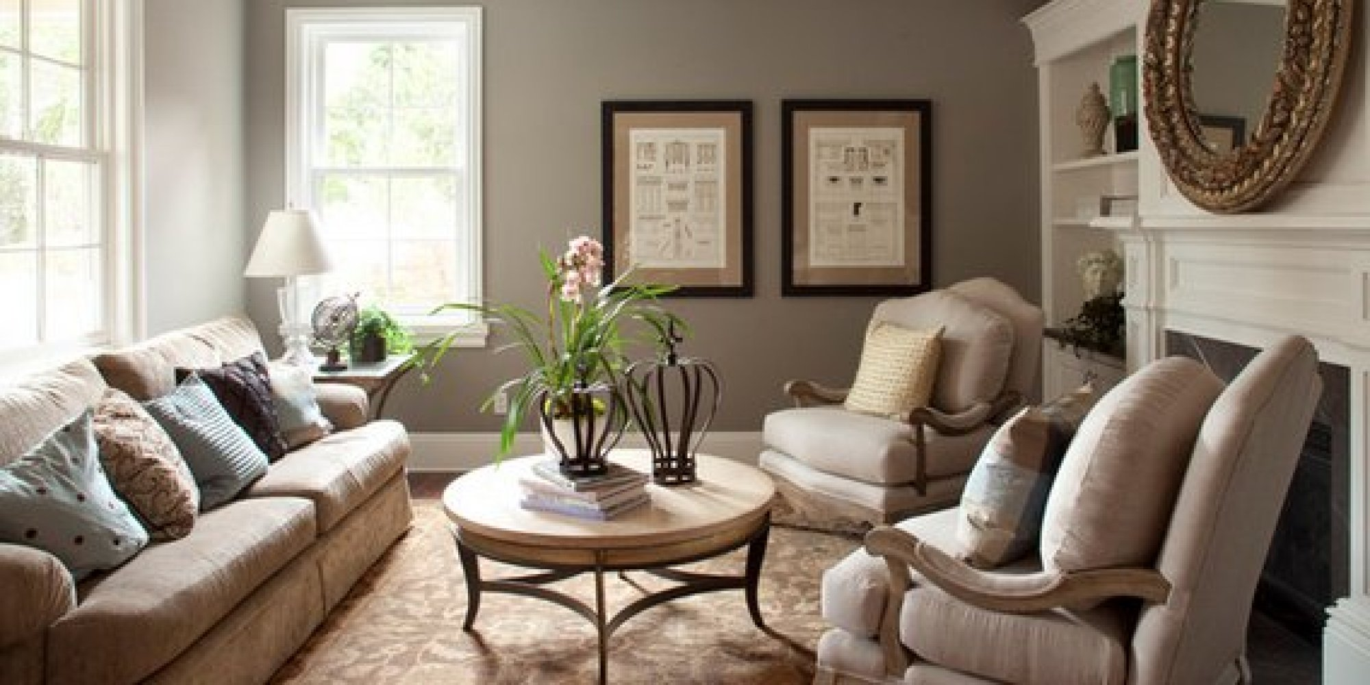 The  Best Paint Colors That Work In Any Home HuffPost - Trending living room colors