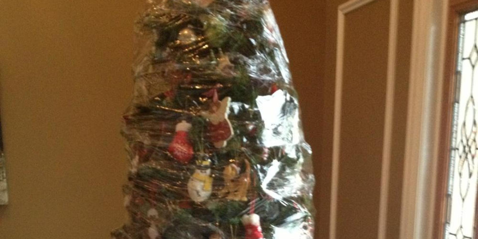 THIS Is How You Take Down A Christmas Tree (PICTURE