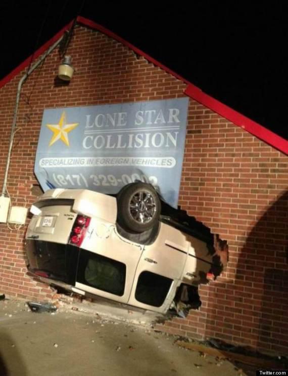collision in repair shop