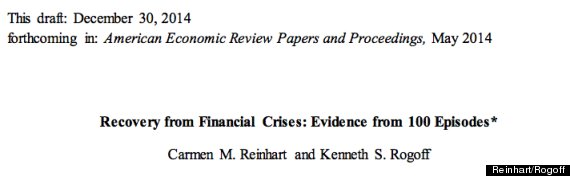 Reinhart and rogoff study