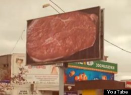 WATCH This Billboard Steak Get Flame-Broiled For Real