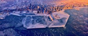 Frozen Chicago From Above