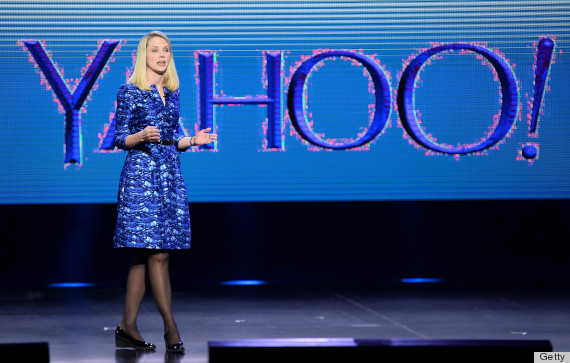 Marissa Mayer's purple dress