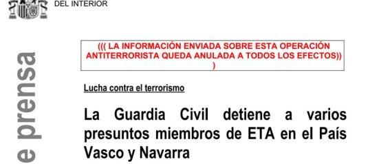 El ministerio del interior informa de una operaci n contra for De que se encarga el ministerio del interior