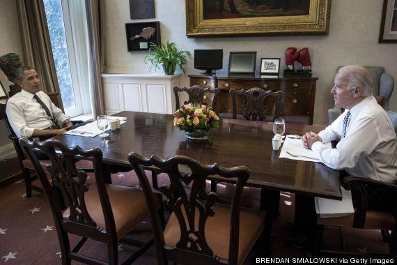 obama biden lunch