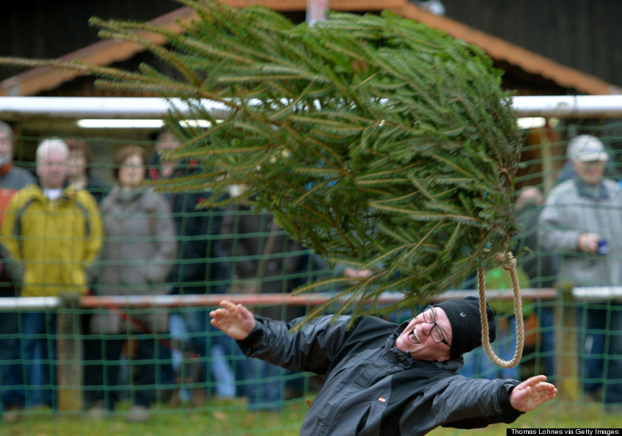 christmas tree throwing