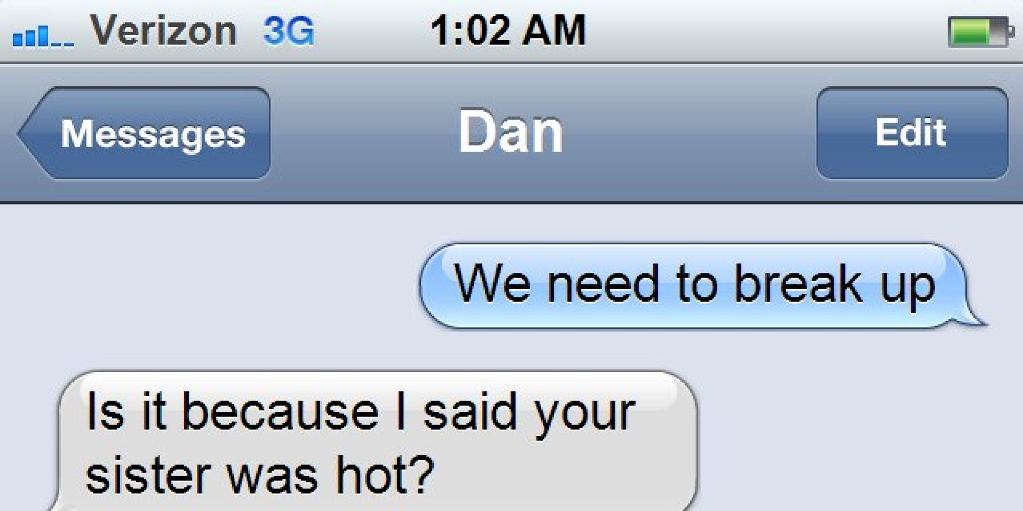 how to reply to break up text