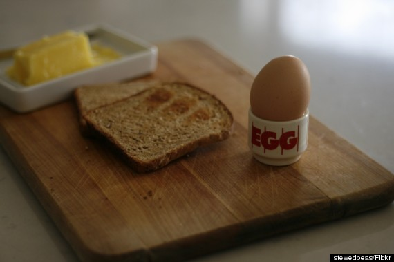 toast soft boiled egg