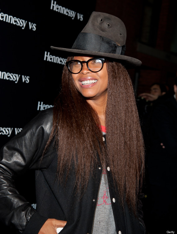Erykah badu debuts old school hairdo adds to her for Erykah badu real tattoos