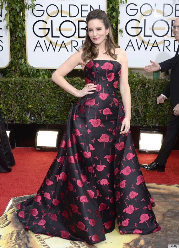 Tina Fey S Golden Globes Dress 2014 Is A Glam Start To The