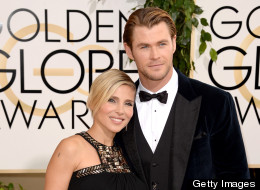 Chris Hemsworth And Elsa Pataky Cuddle Up At The Golden Globes
