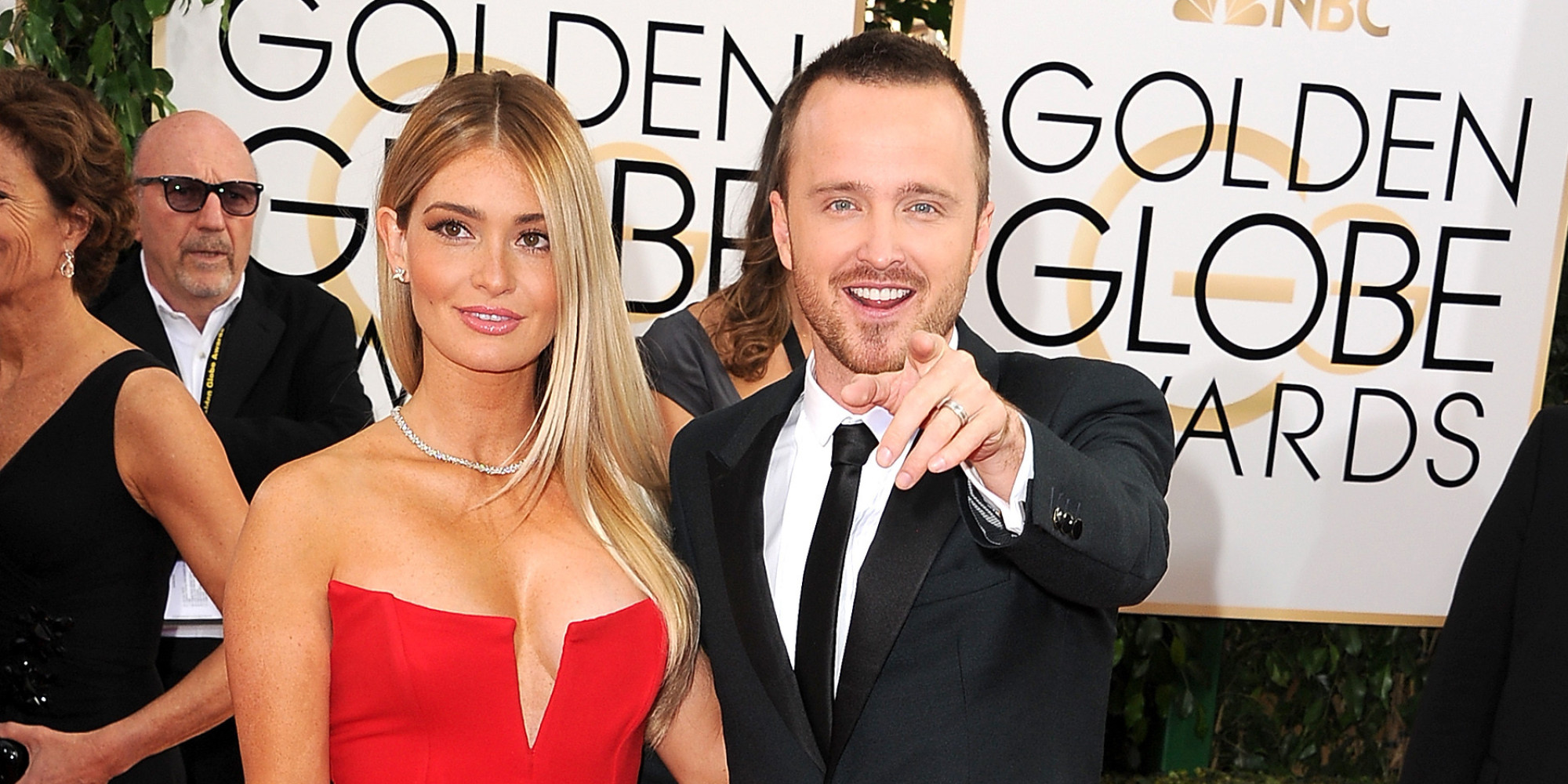 Aaron Paul And Wife Lauren Parsekian Look Gorgeous At The