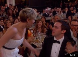 Jennifer Lawrence And Nicholas Hoult Together At The Golden Globes