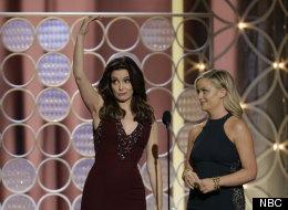 Amy And Tina Spice Up Blergh, Weird Golden Globes