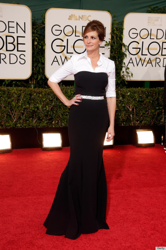 White long dress with sleeves julia roberts