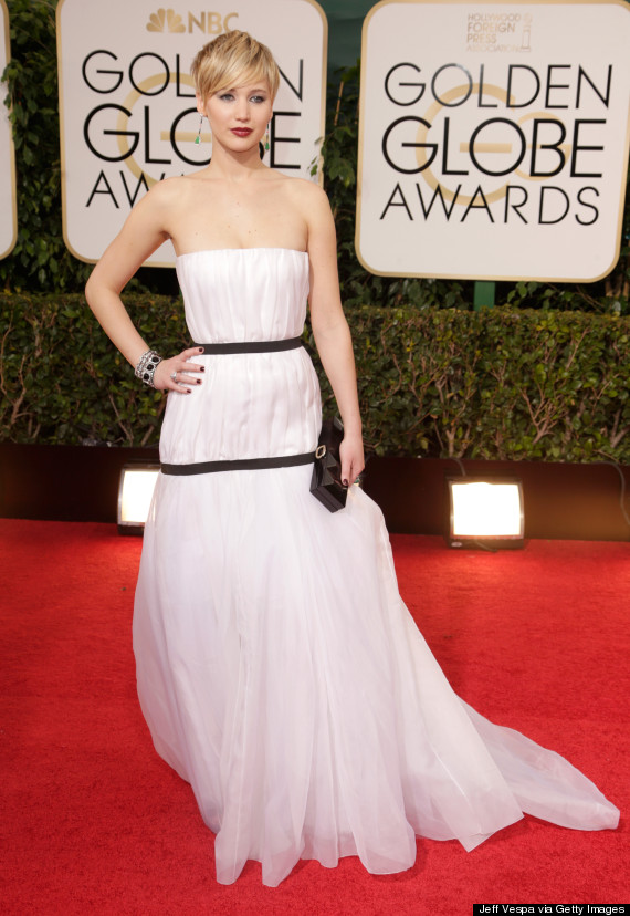 A Cat Wears Jennifer Lawrence S Golden Globes Dress In