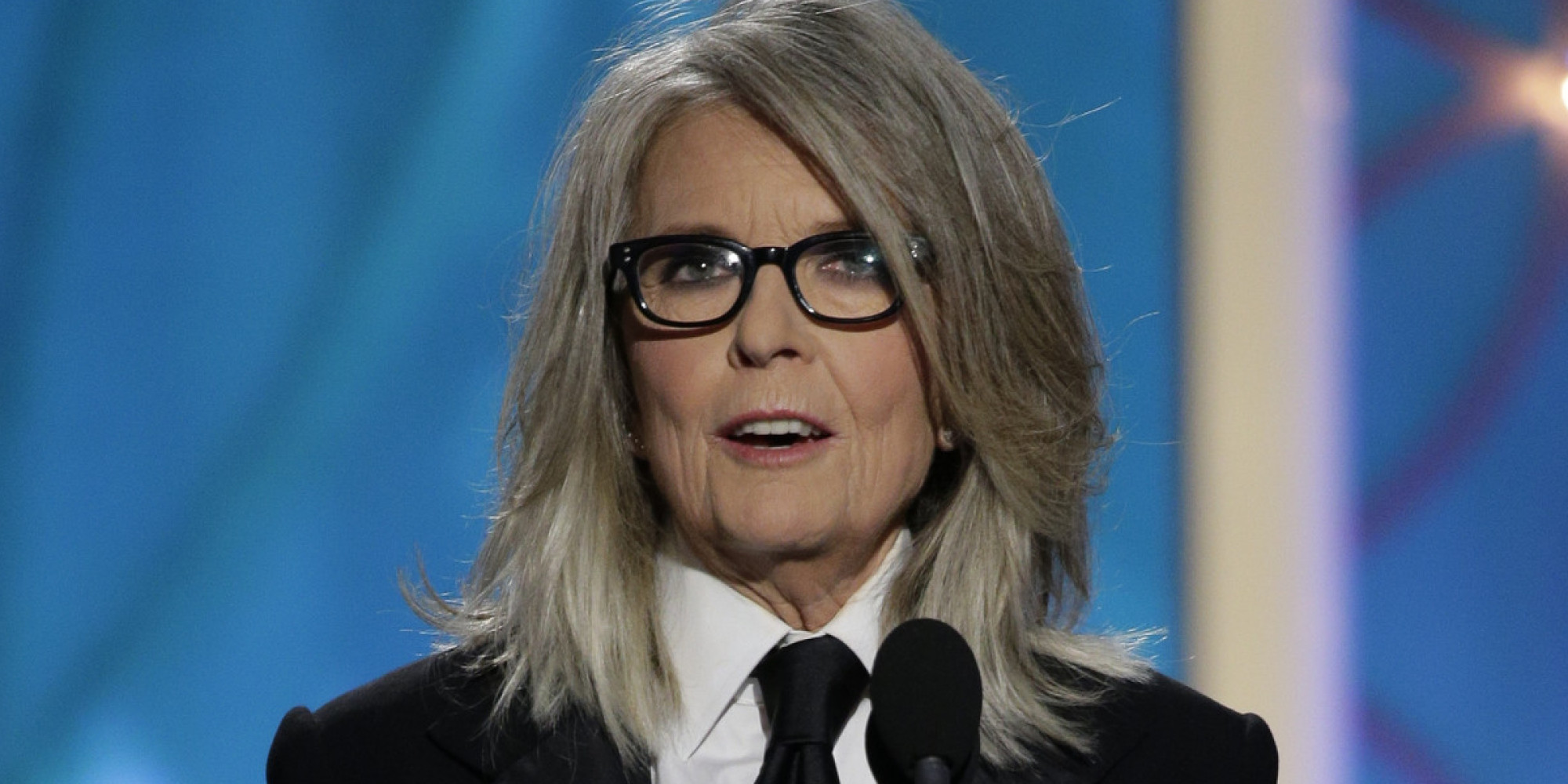 Diane Keaton's Golden Globes 2014 Suit Was Tailored Perfection (PHOTOS ...