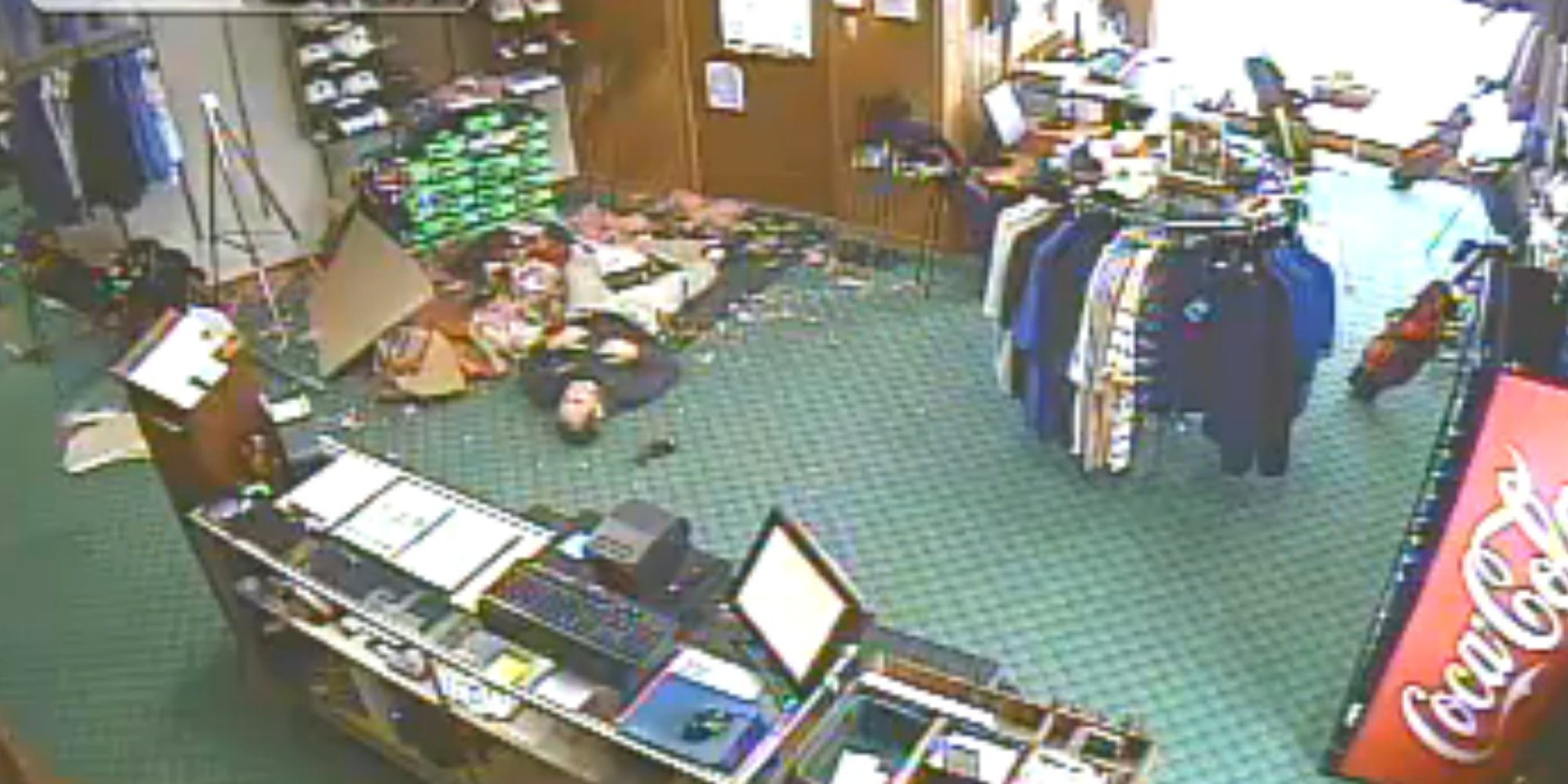 Man Falls Through Roof Of Golf Shop Man Falls Through Shop