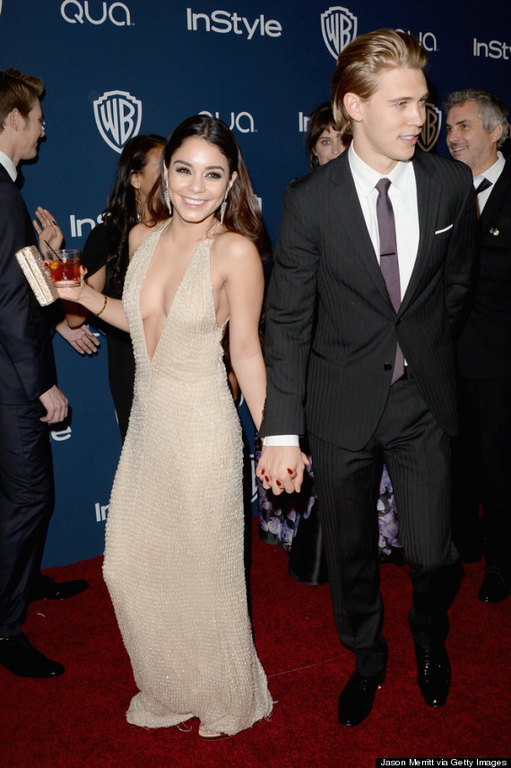 Vanessa Hudgens Turns Heads In Revealing Dress At Golden Globes ...