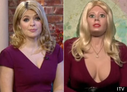 Awkward! Holly Interviews Living Doll Lookalike