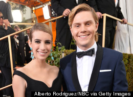 Emma Roberts Flashes Engagement Ring At The Golden Globes