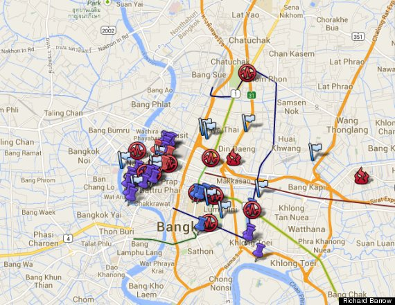 Bangkok Protests Map Informs Tourists Of Areas To Avoid – Maps Of Bangkok For Tourists